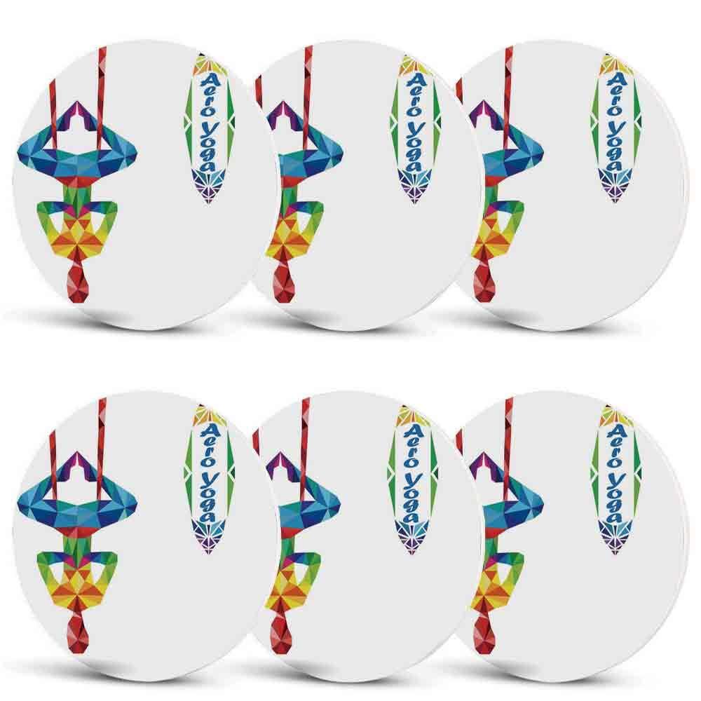 Amazon.com | Yoga Heat Resistant Coasters, Aerial Aero Anti ...