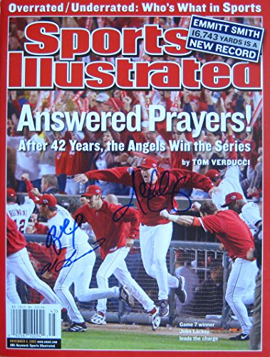 Angels 2002 World Series 11/4/02 autographed ()