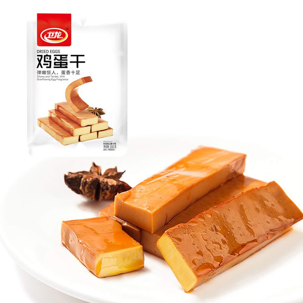 WeiLong Dougan JiDanGan Chinese grocery Snack Gift 卫龙 鸡蛋干240g 休闲豆干 豆制品 零食素食豆腐干 LONODEE