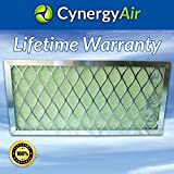 Furnace Air Filter - Indoor Filter Frame Kit W/Four Filters - One Year Supply - Patented Lifetime Warranty - Green Hospital Hepa Quality - For Home or Office 10 inch by 30 inch by 1 inch