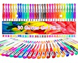 30 Colors Gel Pens Glitter Markers Set Fine Point Drawing Pen for Adults Coloring Books Doodling Bullet Journaling