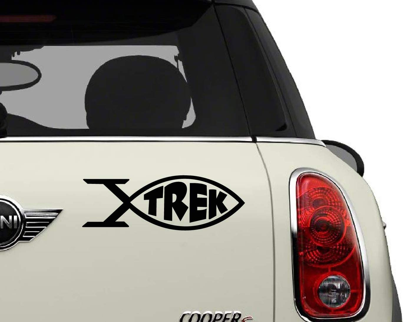 Star Trek Fish Black SCI-FI//Comics//Games Automotive Decal//Bumper Sticker