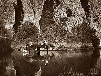 Barry Hart Sombrero Saddle Western Photograph Cowboy Print Poster 13x19
