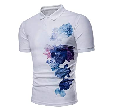 Mieuid Hombre Camisa De Polo para De Verano De Manga Corta Chic ...