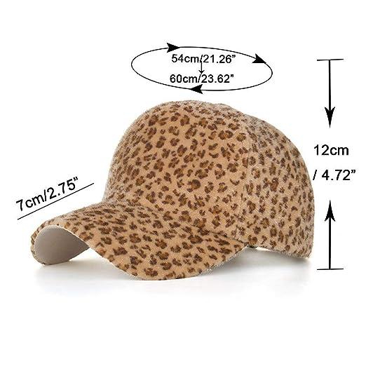 Fashion Women Casual Leopard Print Simple Warm Beanie Hat Wool Baseball Cap(Black, Free Size) at Amazon Womens Clothing store: