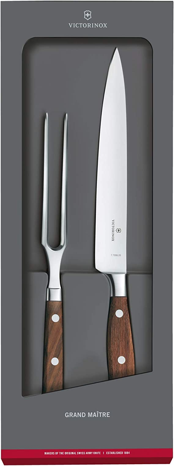 NEW Victorinox Rosewood Carving Set 2pce