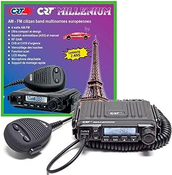 Aparato CB 27 MHz CRT-Millenium homologado 4 W x Camper/Coche