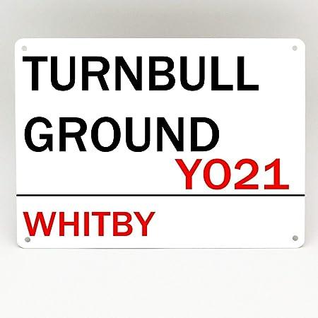 Inga Whitby Town FC Placa de Metal para futbolín de Turnbull de 8 x 12 Pulgadas: Amazon.es: Hogar