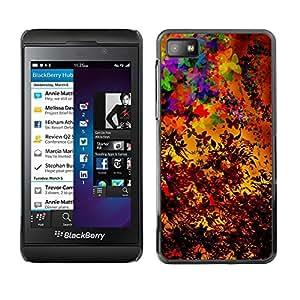 TECHCASE**Cubierta de la caja de protección la piel dura para el ** Blackberry Z10 ** Colorful Autumn Seasons Art Painting Leaves