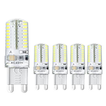 Ahevo 5 pcs bombilla LED G9 ,3 W, equivalente a halógeno de 20 W