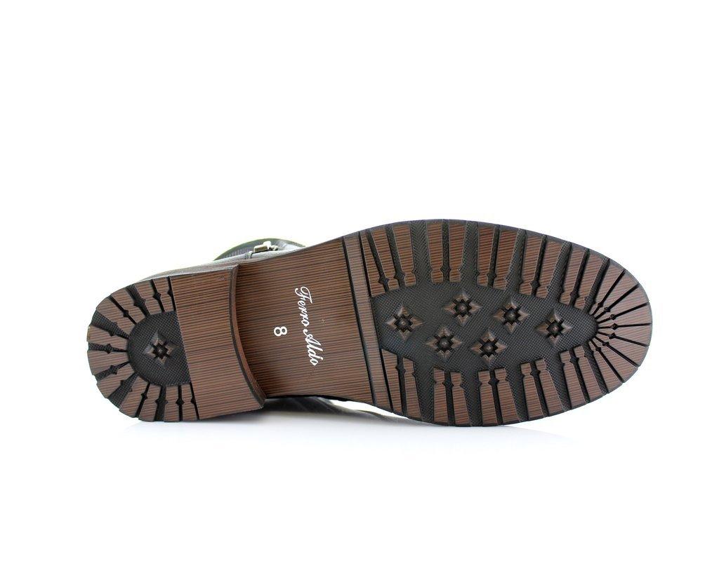 New Men's Classic Designer Zip Casual Chukka Ankle Boots, Black, 13 by Ferro Aldo (Image #4)