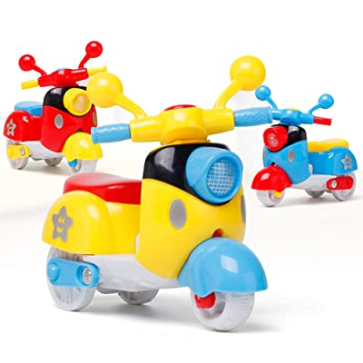 Ghazzi Mini Motorcycle Toy Early Model Educational Toys Developmental Intelligence Toy for Kids Puzzle Educational Learning Toy Growing Experiment Gift Toy Pretend Toy Toddlers Toy (Random Color): Toys & Games