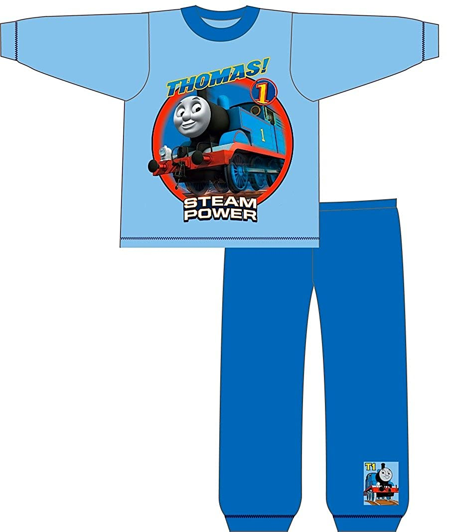 bb67f54d55c7 Kid Boys Official Thomas The Tank Engine Trains Long Pyjamas PJ S Set 2  Piece Steam Power Size 3-4 Years  Amazon.co.uk  Clothing