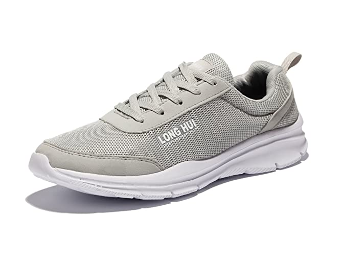 VSDANLIN Zapatos Planos con Cordones Hombre, Color Gris, Talla 42