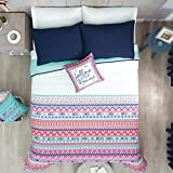 TRIBAL DREAMS TEENS GIRLS CUTE COLLECTION REVERSIBLE COMFORTER SET 3 PCS TWIN SIZE