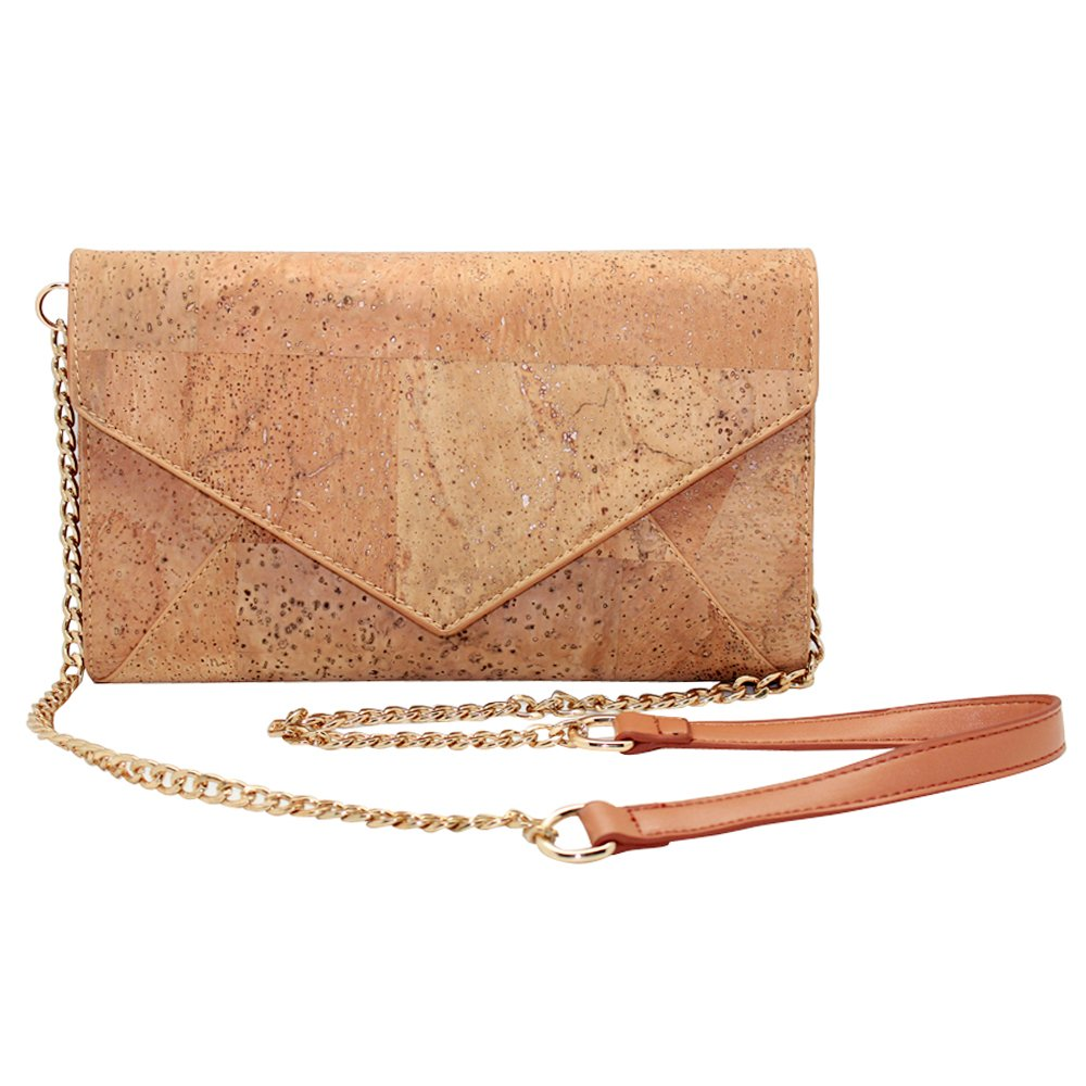 boshiho Natural Cork Crossbody Bag, Women Vegan Handbag Cork Clutch Wallet