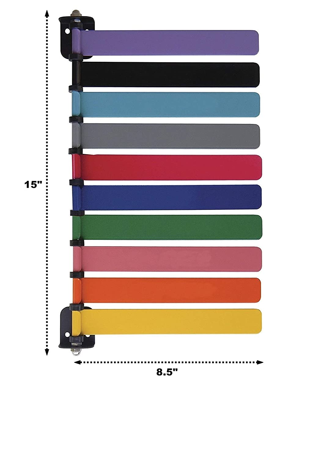Quickly /& Clearly Alert Staff to Room Availability Standard 10 Color Set Room ID Flag System