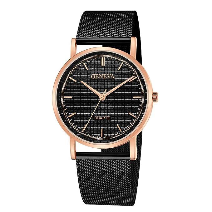 DressLksnf Reloj Lujo Moda de Mujer Pulsera Deportiva Acero Inoxidable Durable Correa de Metal Malla Digital Clásico Banda de Reloj Cadena Ajuste Simple: ...
