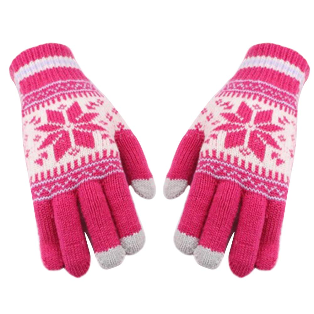 Men Women Touch Screen Gloves - Warm Winter Knitted Gloves Unisex Soft Thick Windproof Cold Proof Thermal Mittens, 1 Pair Bigmai