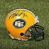 Mike Pringle Signed Mini Helmet - Edmonton Eskimos CFL - Autographed NFL Mini Helmets
