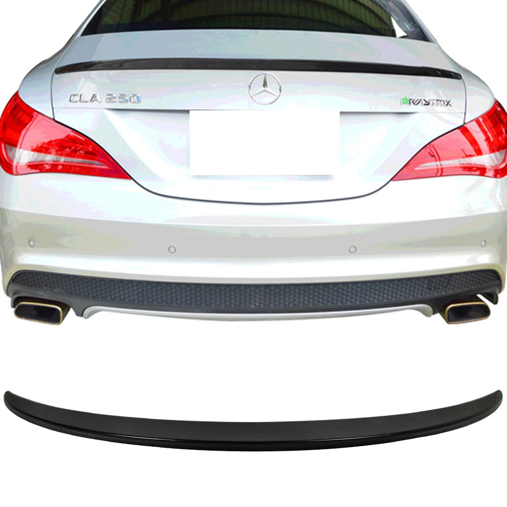 AMG Style ABS Painted#197 Obsidian Black Metallic Rear Tail Lip Deck Boot Wing Other Color Available By IKON MOTORSPORTS Pre-painted Trunk Spoiler Fits 2014-2018 Benz CLA W117 2015 2016 2017