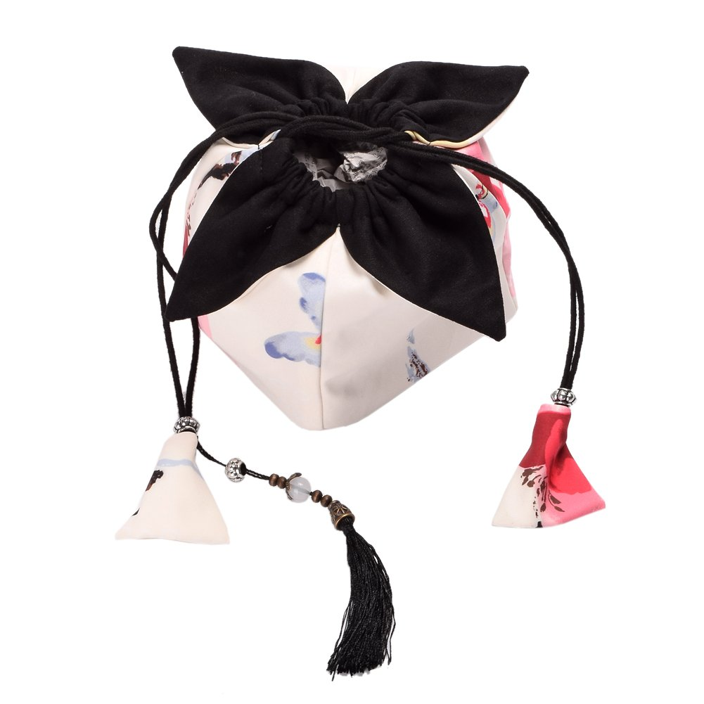 BLZ Niedlich Mädchen Kordelzug Tasche japanisch Kimono Beutel