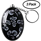 3 Pack Anrui 120 dB SOS Emergency Personal Alarm Keychain Self Defense for Elderly Kids Women Adventurer Night Workers Anti-theft Alarm Policeman Recommend