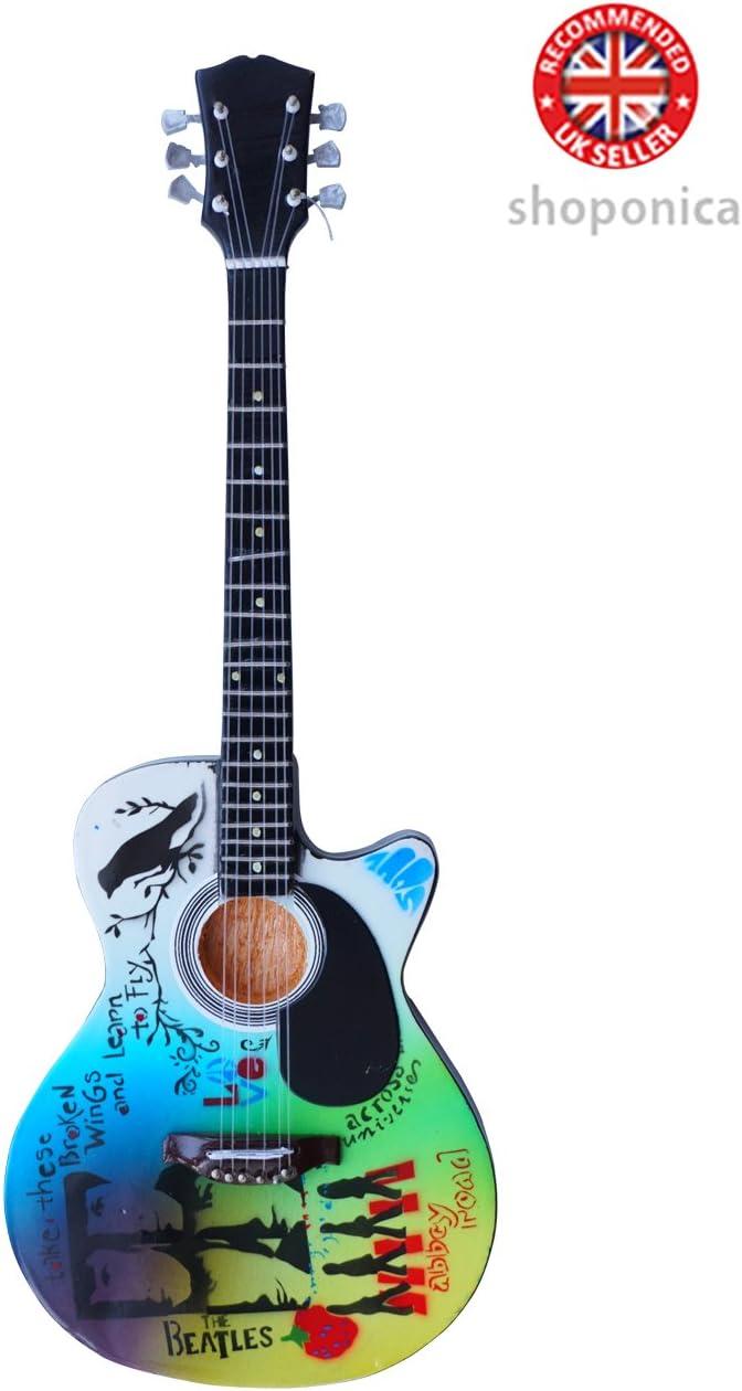 The Beatles – alas rotas homenaje de madera miniatura guitarra ...