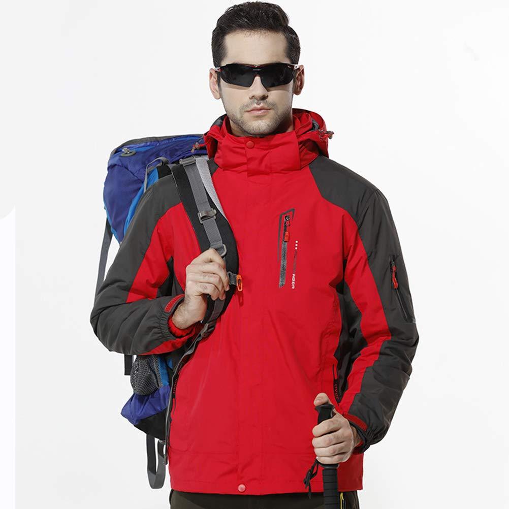 rouge 4XL SJZC Veste Coupe Homme Ski Manteau Hommes Blouson De Impermeable Vent Pas Cher Hivers Pluie SurveteHommest049