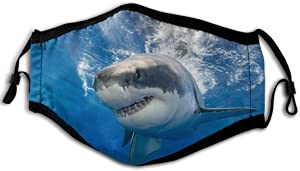 Great White Shark In Mexico Fashion Ear Hook Ventilation Dust Mask Breathing Full Mask Dust And Pollen Proof