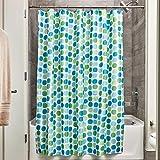 Blue and Green Shower Curtain InterDesign Rialto 72-Inch by 72-Inch Shower Curtain, Blue/Green