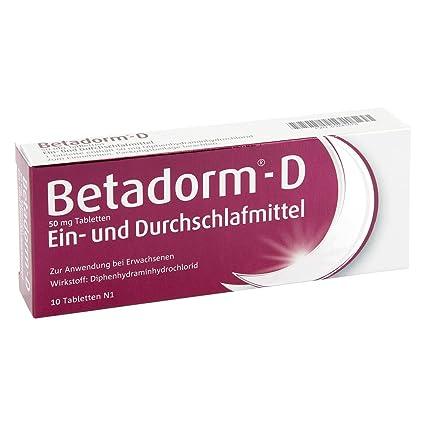 Betadorm D tabletas 10 unidades
