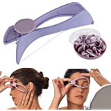 Pink Pari Slique Eyebrow Face and Body Epilator System Kit - VY149 (Multicolour)