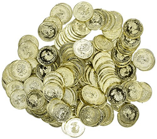 Plastic Gold Coin Treasure of 288 Coins