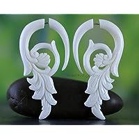 Real flower plugs Real Plant Organic Gauges Resin plug earrings Fairy Gauges Ear plugs Wood Resin Piercing Magic Resin Ear Plugs