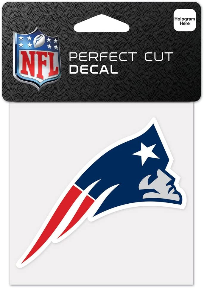 WinCraft NFL New England Patriots 63055011 Perfect Cut Color Decal, 4