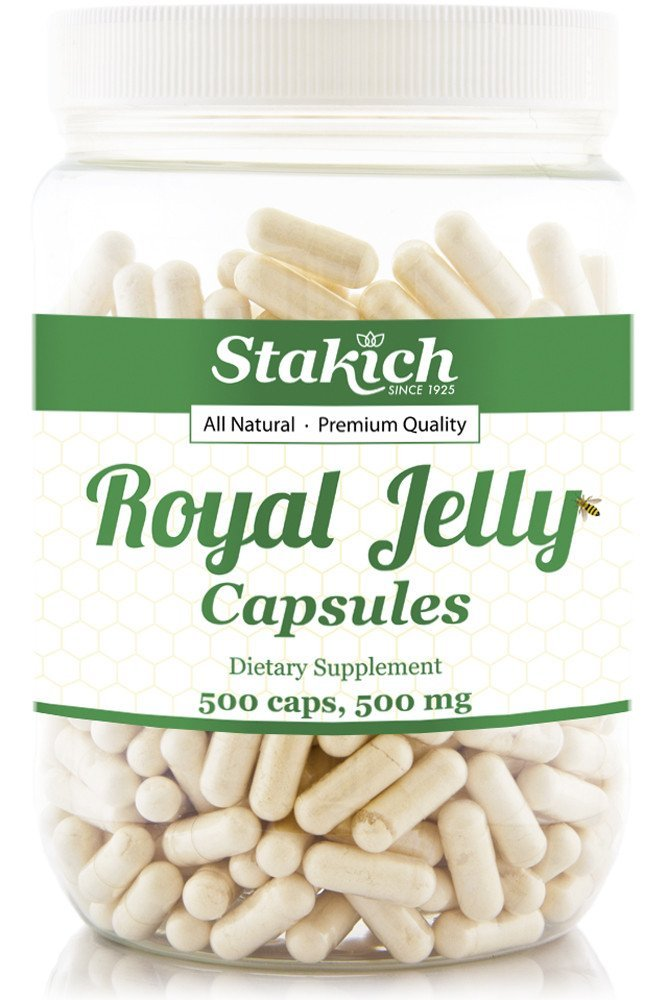 Stakich Royal Jelly Capsules 500 Milligram - Pure - 500 Count