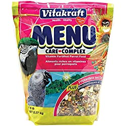 Vitakraft Menu Vitamin Fortified Parrot Food, 5 Lb.