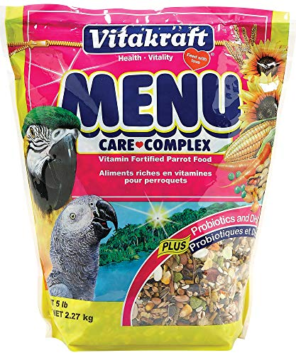 Vitakraft Menu Vitamin Fortified Parrot Food, 5 - Senegal Parrot