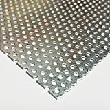 Online Metal Supply Galvanized Steel Perforated Sheet .034'' (22 ga.) x 12'' x 24'' - 3/32'' Holes - 3/16'' Centers