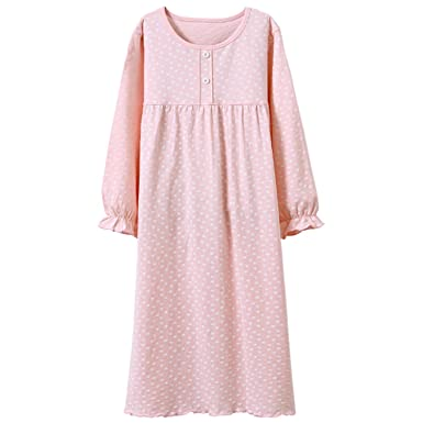 acdac7abd4 Baby Girls  Princess Nightgowns Polka Dots Sleep Shirts Fancy Sleep Gowns  Pink 3t