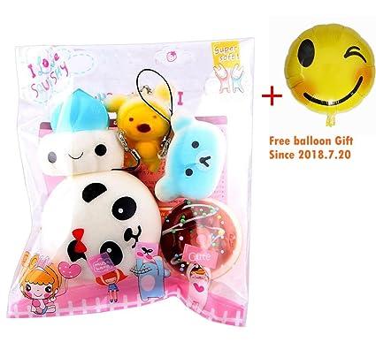 5pcs Squishy Juguete Juego Kawaii Mochi Panda Mono Decoracion De