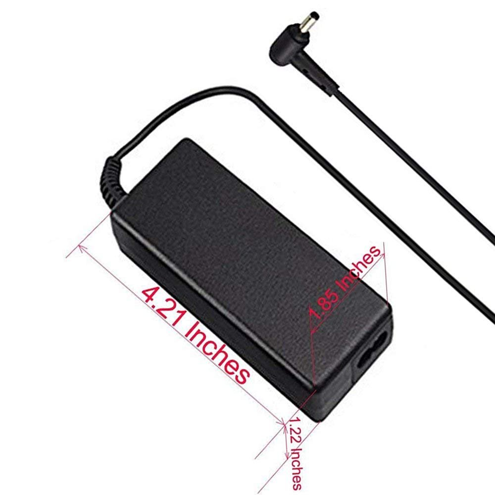 AC Charger Compatible Toshiba Satellite C50 C55 C55D C75 C75D C655 C655D C675 C850 C855 C855D C875 L55 L55D L755 L655 L745 L775 L855 S55 P50 P50T P755 A665 A505 A205 Laptop Power Supply Adpater Cord by Superer (Image #4)