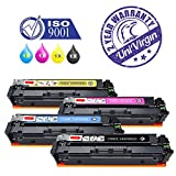 Set of 4 MF735Cdw Toner Cartridge Replacement for Canon CRG-046 046 Toner Cartridge for use in Canon Color LaserJet LBP654Cdw MF735Cdw MF731Cdw MF733Cdw Printer - by UniVirgin (High Yield, BK/C/M/Y)