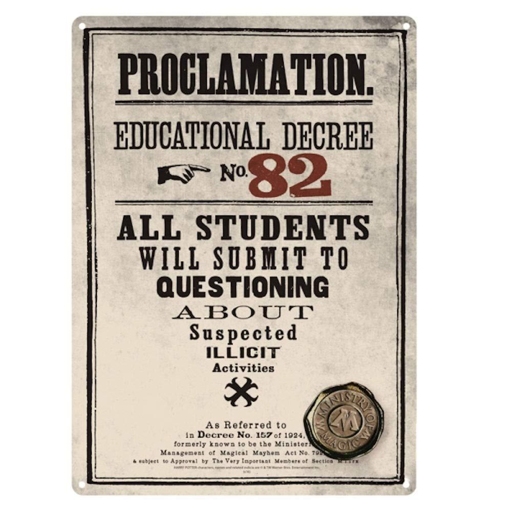 Harry Potter Proclamation educativo Decreto no 82 A5 Cartel ...