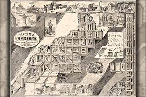24x36 Poster; Scenes From The Comstock Lode, A Large Silver And Gold Deposit Worked By Numerous Mines In Virginia City And Gold Hill, Nevada 1877