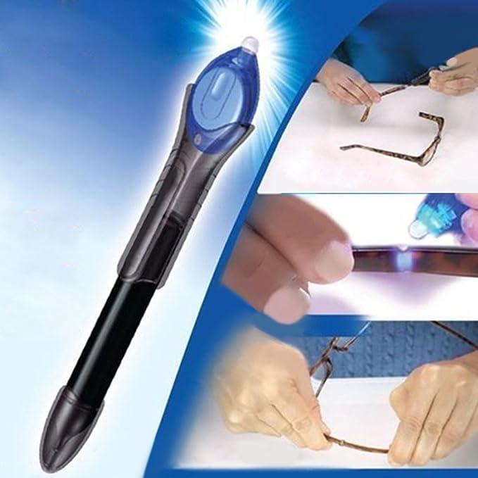 UV Activa pegamento, líquido cristal soldadura compuesto pegamento reparación herramienta UV luz Fix reparación Pen 5 segundo más rápido que Super ...