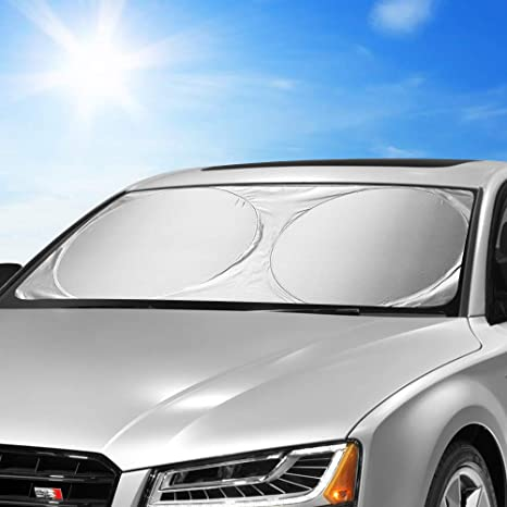 Sun Blocker For Car >> Kktick Windshield Sun Shade Foldable Car Front Window Sun Shade Sun Reflector For Car Windshield Visor Sun Uv Blocks Keeps Your Car Cooler Large