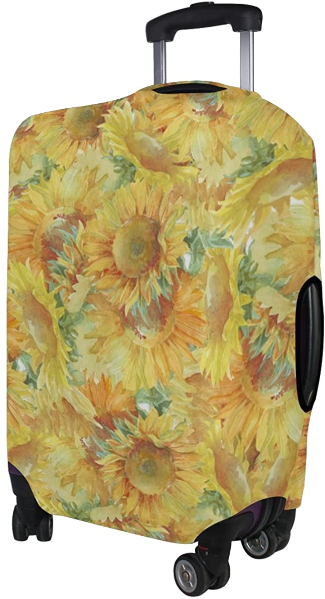 LAVOVO Sunflowers Watercolor Luggage Cover Suitcase Protector Carry On Covers