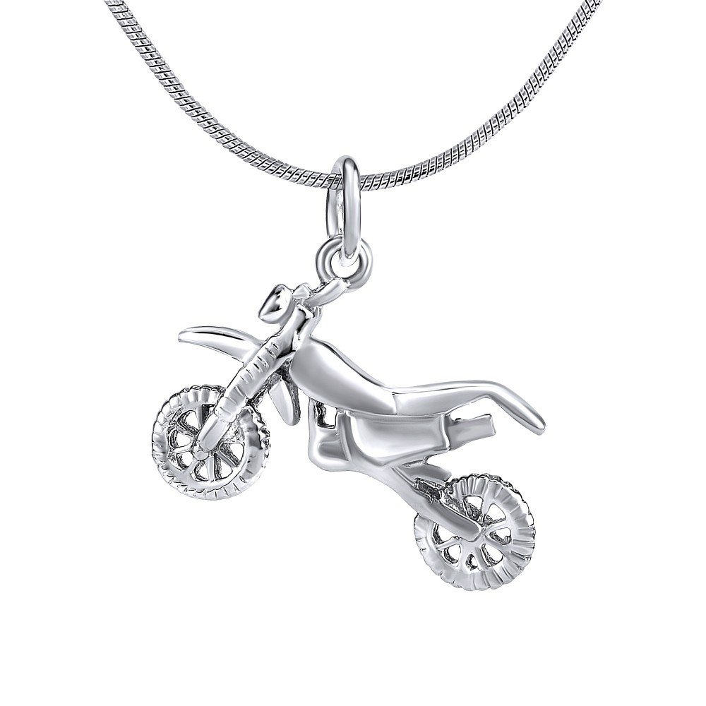 Argent 925//1000 Moto Cross Pendentif Homme SILVEGO